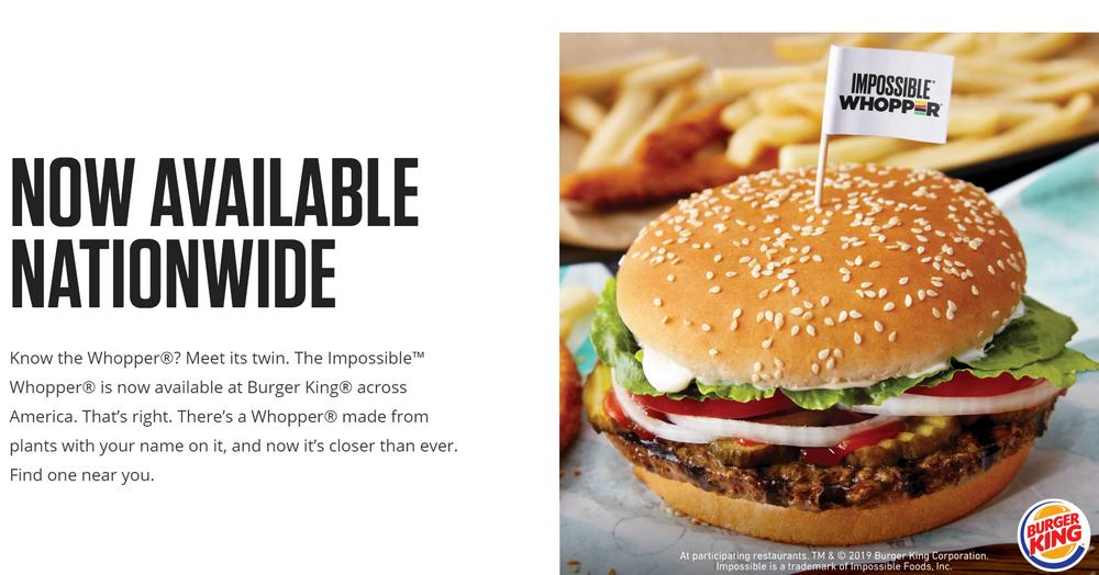 人造肉汉堡竟然含肉?素食主义者将汉堡王告上法庭