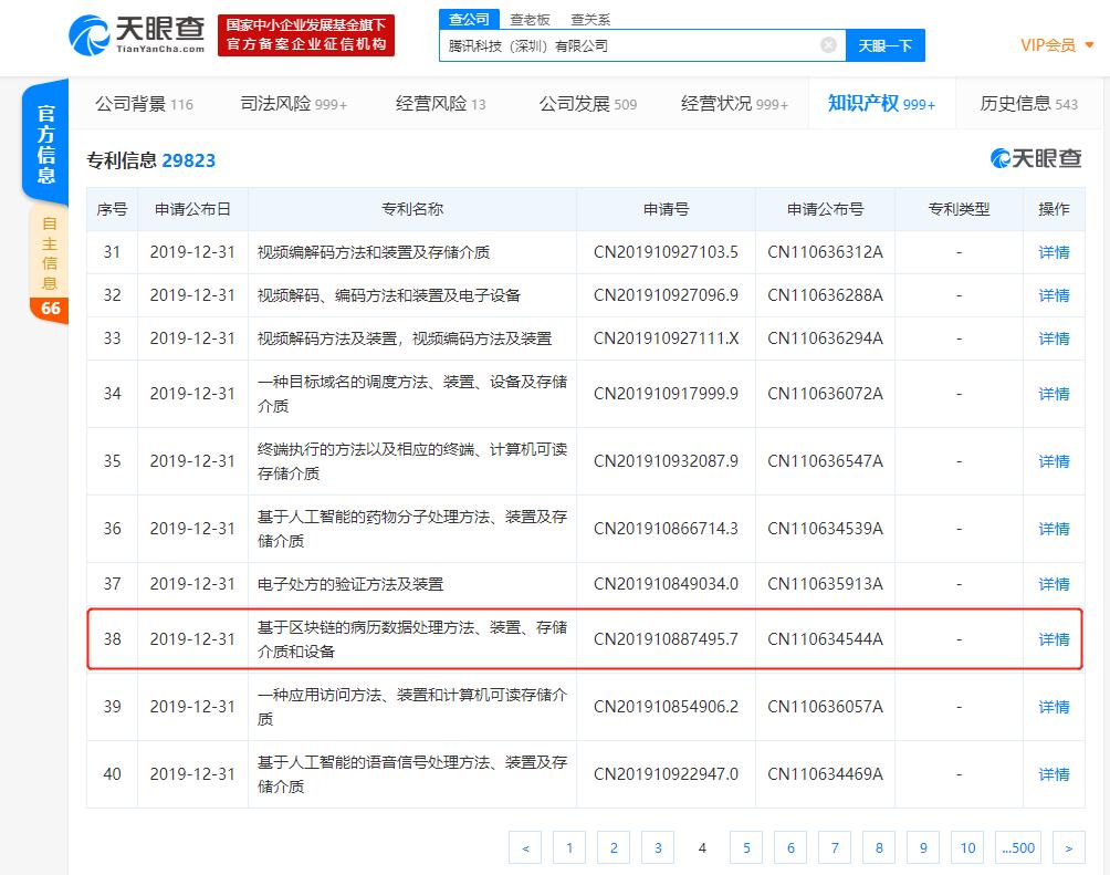 """布局区块链落地应用 腾讯申请""""区块链+借贷""""、""""区块链+病历数据""""等专利"""