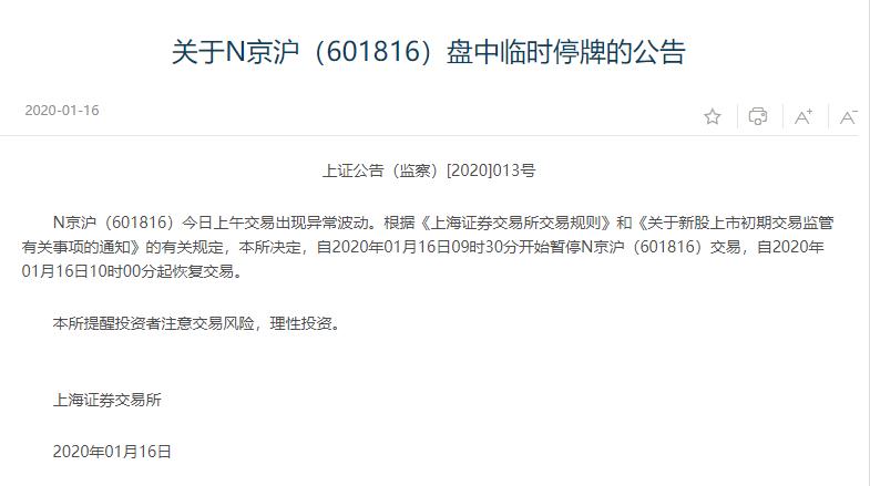 京沪高铁开盘大涨又快速跳水 一签仅盈利1000余元