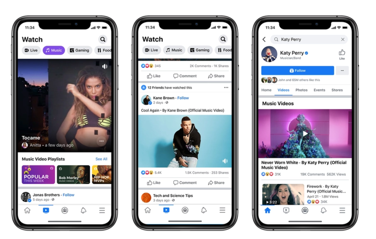 """美国科技巨头开始""""抢生意"""" Facebook宣布上线音乐视频业务"""