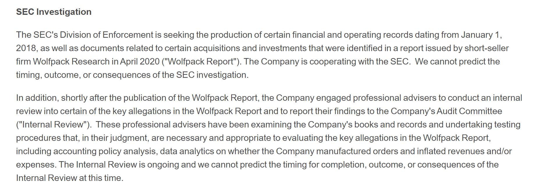因Wolfpack做空报告 爱奇艺正接受美国证监会调查