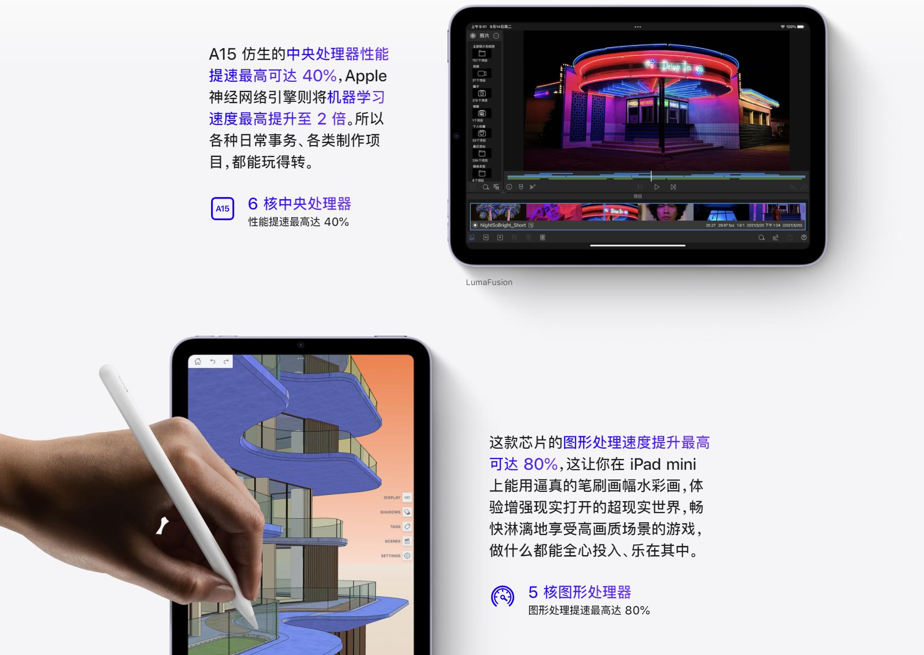 苹果发布会三大亮点:5纳米A15芯片、120Hz屏幕刷新率、片子级摄像头  刷新率 ipad 苹果发布会 数码 苹果公司 iphone 芯片 苹果 第4张